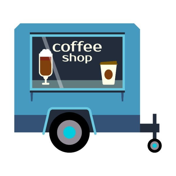 Mobile coffee trailer