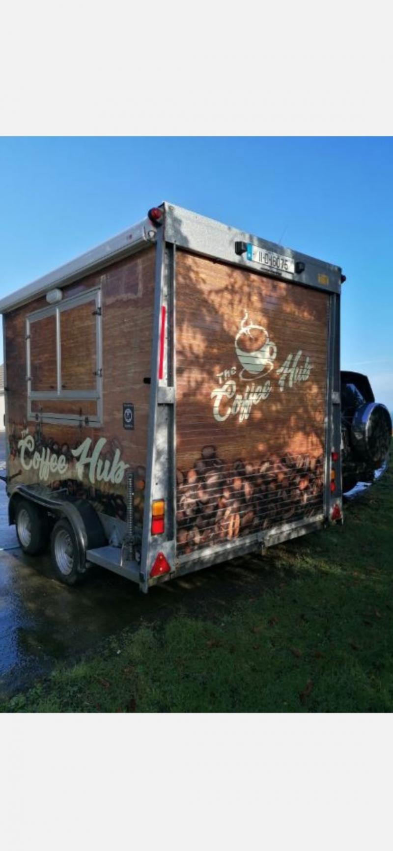 Mobile coffee trailer